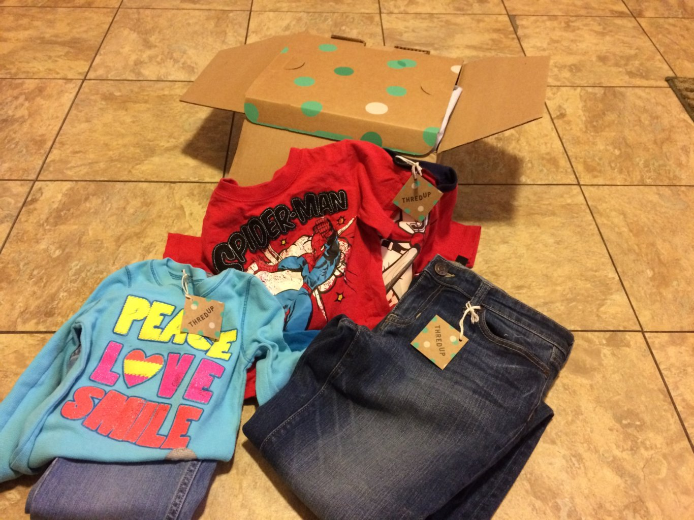 Clothes from thredUp, an online consignment store.