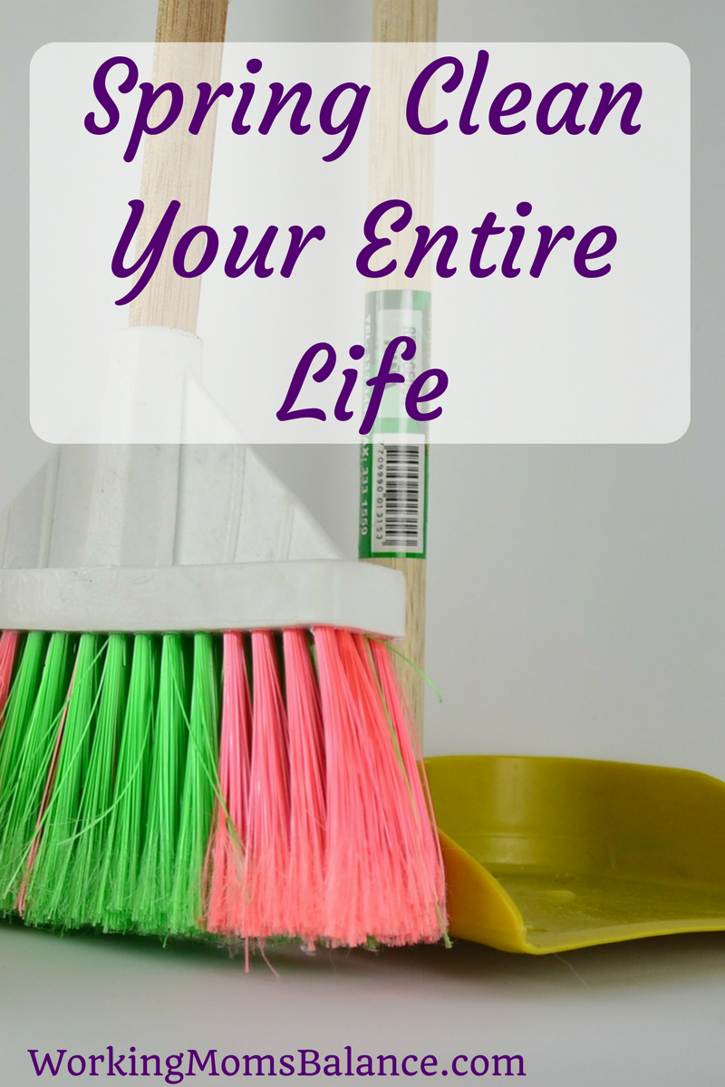 We often work hard to spring clean our homes when the weather warms up each year, but it is a good idea to look at all areas of our life to determine what changes need to be made, what things need to be purged, and what we need to clean up. Here are several areas to consider to spring clean your life.