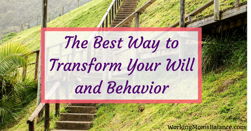 The Best Way to Transform Your Will and Behavior