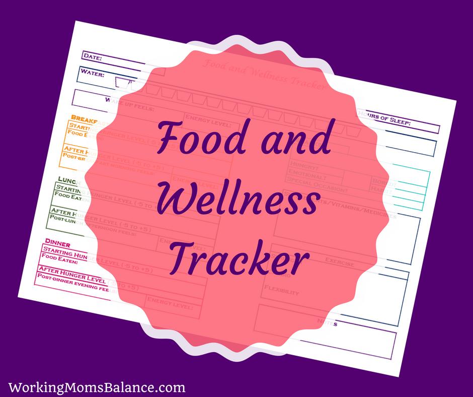Free Printable Food and Wellness Tracker